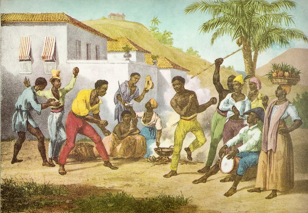 Capoeira or the Dance of War by Johann Moritz Rugendas, 1835