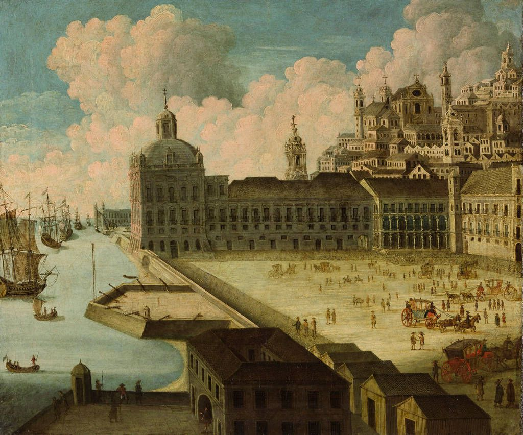 Terreiro do Paço (Palace Square) and the Ribeira Royal Palace, prior to their destruction in the 1755 Lisbon earthquake.