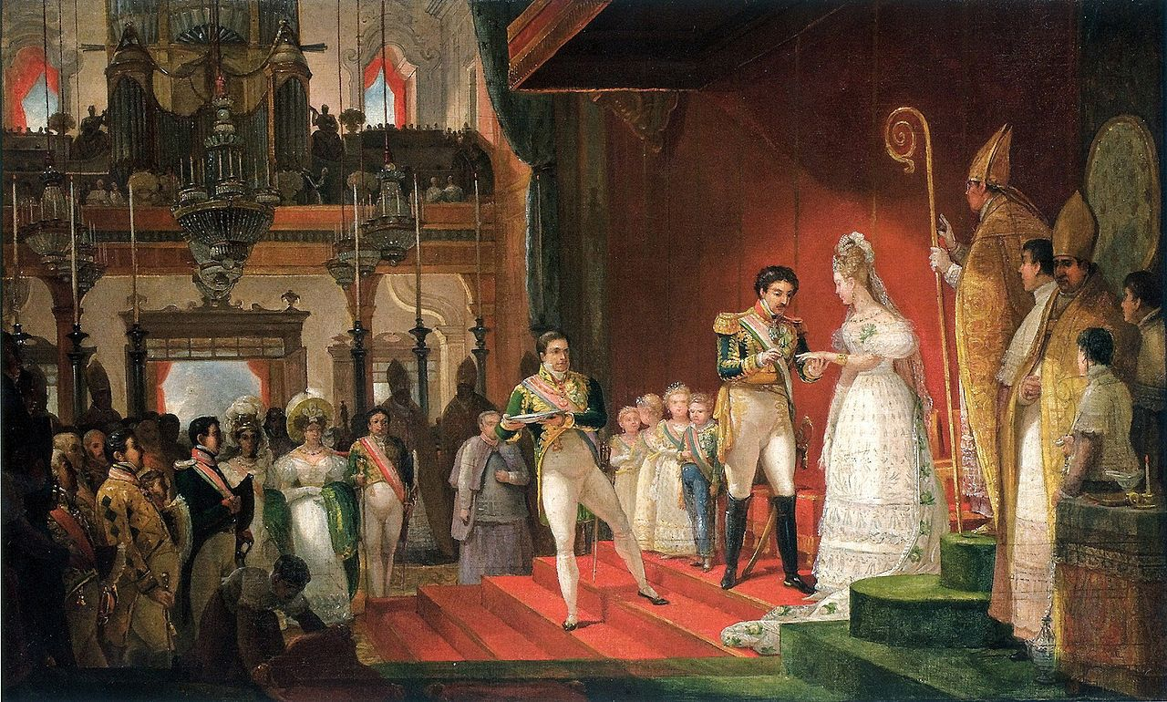 Emperor Pedro I of Brazil marriage to Amélie of Leuchtenberg, - Jean-Baptiste Debret.