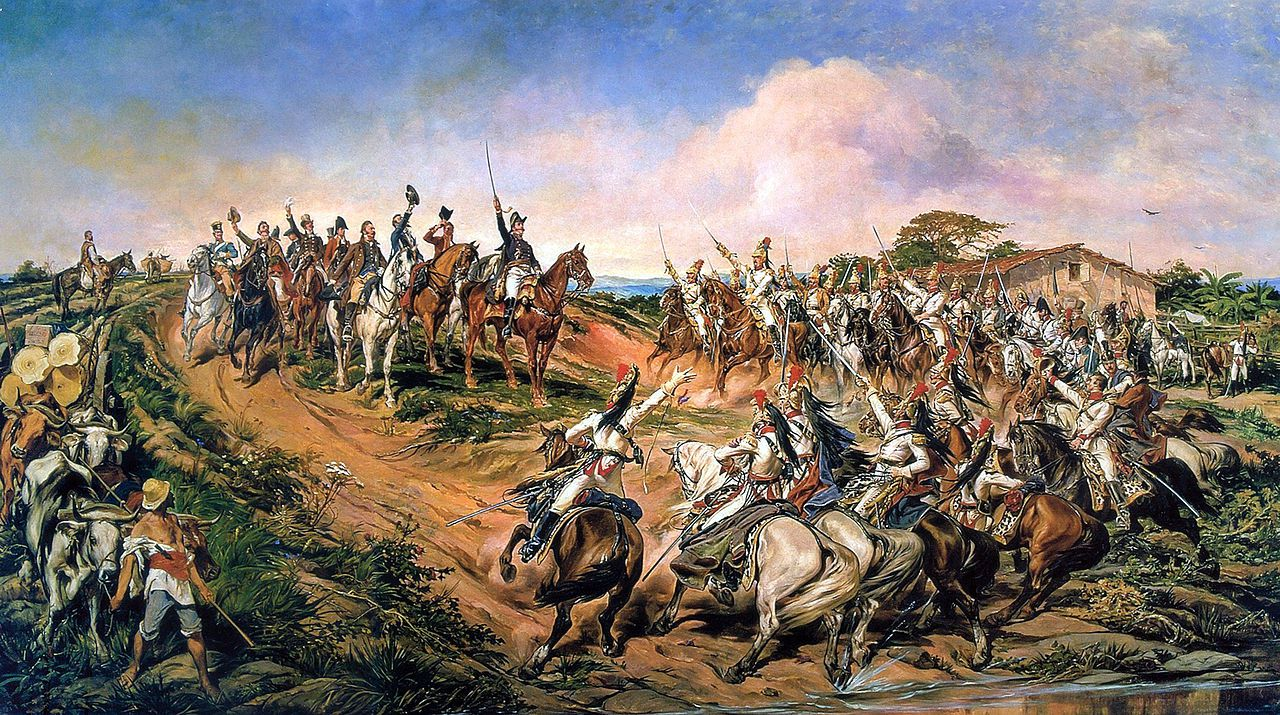 Prince Pedro declares the Independence of Brazil on September 7, 1822.