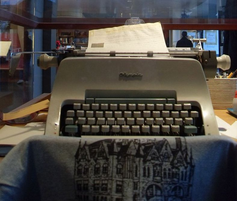 Michener's typewriter at the James A. Michener Art Museum in Doylestown, Pennsylvania