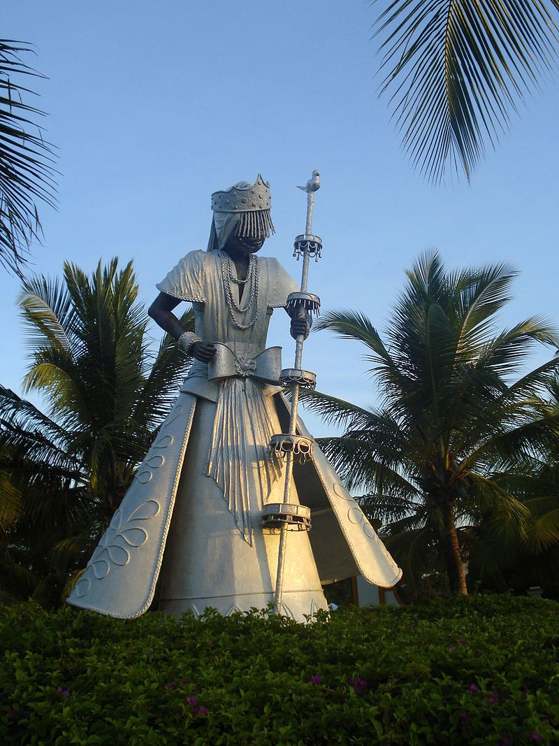 Statue of Oxalá in Costa do Sauípe, Bahía, Brasil.