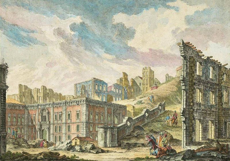 Patriarchal Church Square, following the 1755 Lisbon earthquake.