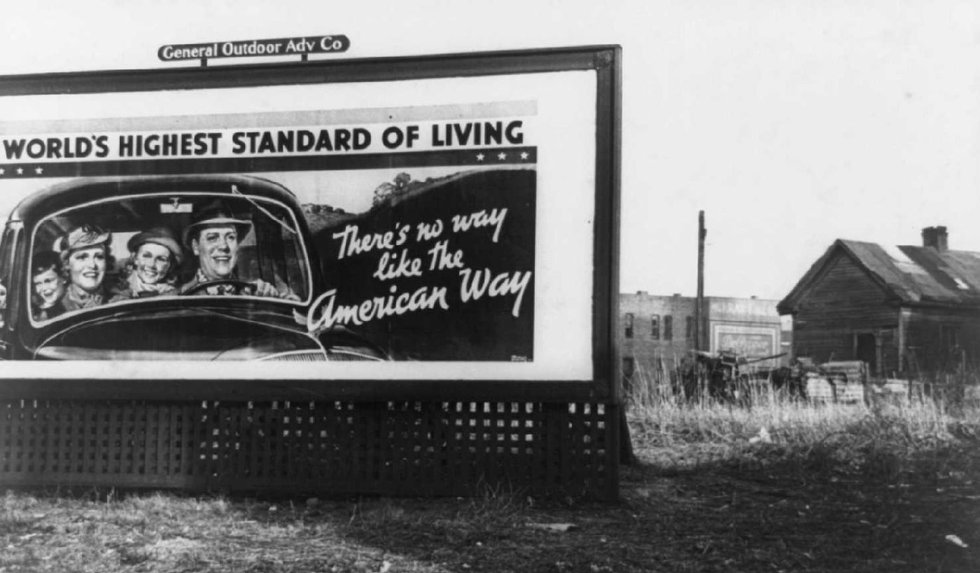 American Way billboard, Birmingham, Alabama - Arthur Rothstein- FSA/Library of Congress