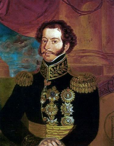 Pedro I at age 27 during his trip to Salvador, Bahia province, March 1826  -- Antônio Joaquim Franco Velasco