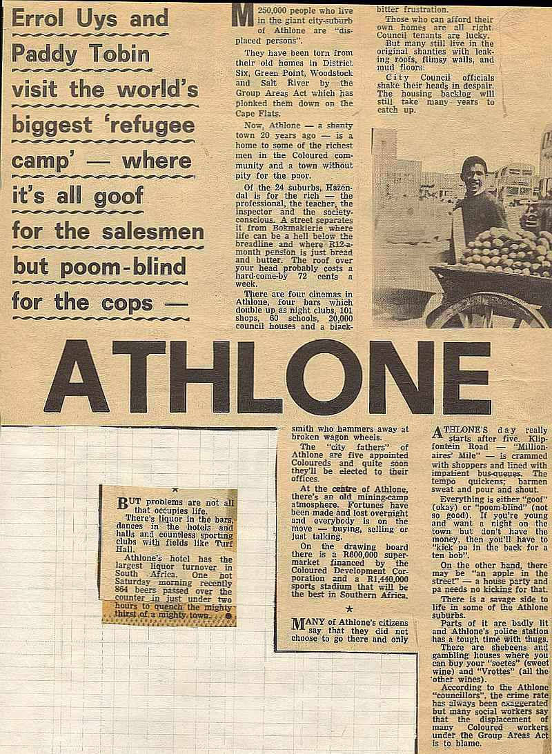 Athlone - The world's largest refugee camp - Post, South Africa