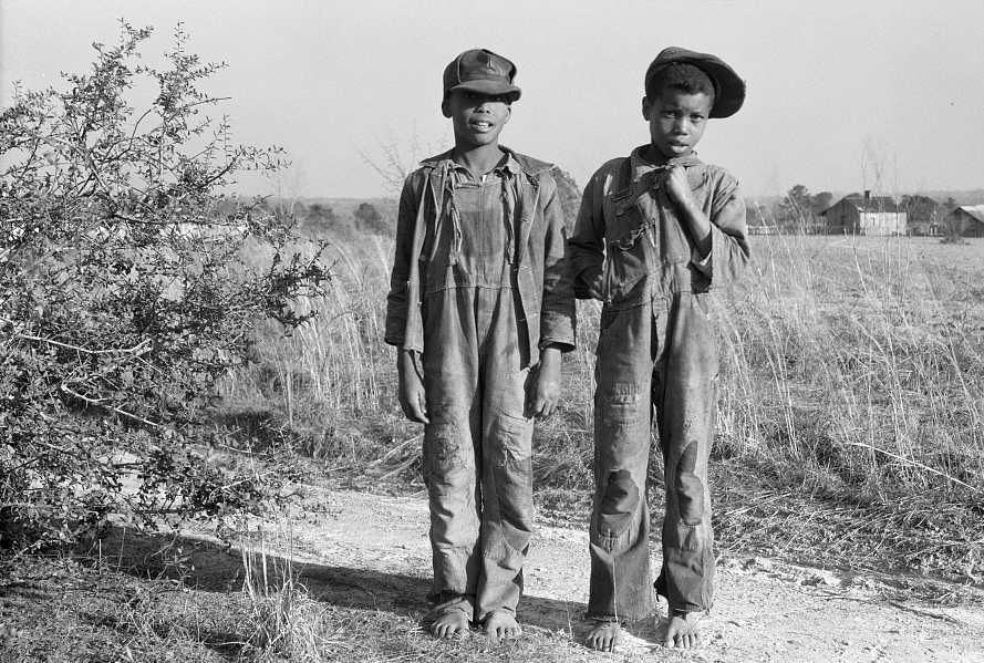 Sharecropper's sons - Arthur Rothstein  FSA/Library of Congress Collection