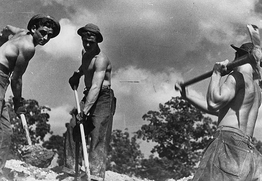CCC (Civilian Conservation Corps) boys at work, Prince George's County, Maryland - Carl Mydans FSA/Library of Congress