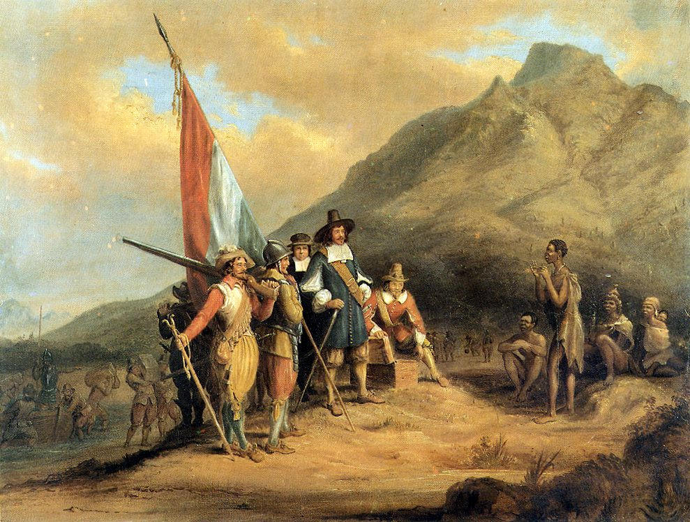 Arrival of Jan van Riebeeck in Cape Town - Charles Davidson Bell