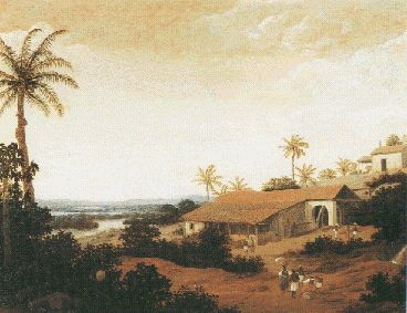 Engenho - Brazilian plantation with chapel - Frans Post