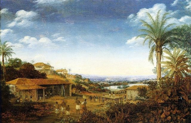 Pernambuco engenho or plantation, 17th century - Frans Post
