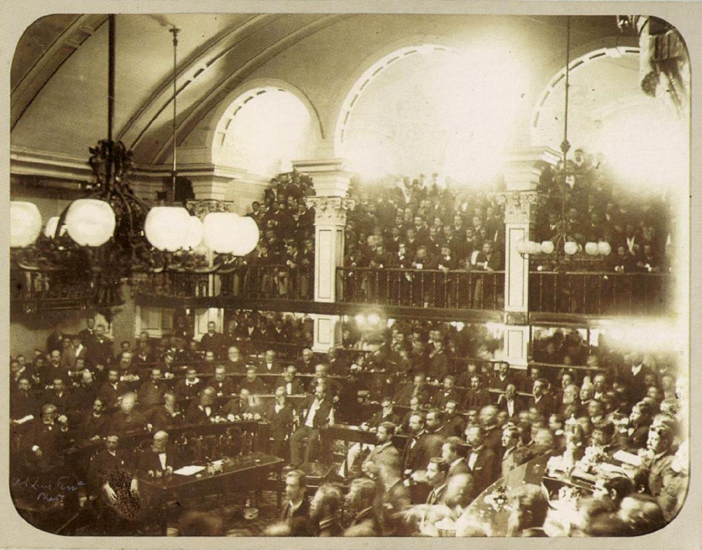 The Brazilian Senate passing the bill that abolished slavery in the country, 1888.