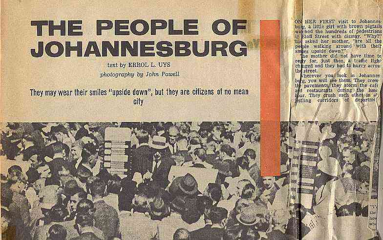 People of Johannesburg - Personality Magazine, South Africa