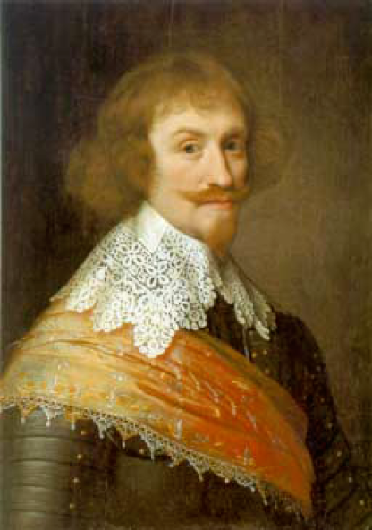 Jean-Maurice of Nassau-Siegen (or Johann Moritz von Nassau-Siegen), 1603-1679, general governor of the Dutch colonies in Brazil. - 1637 painting probably by Michiel van Mierevelt