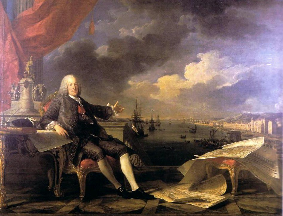 Marquis of Pombal -  Louis-Michel van Loo and Claude Joseph Vernet; 1766.