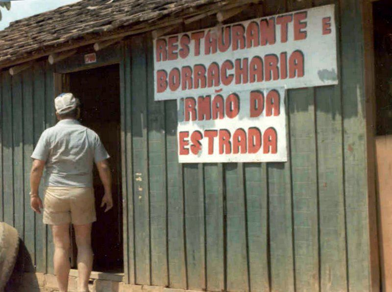 On the road from Porto Velho to Guajará-Mirim. 1981