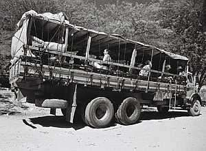 Pau de arara - transport for construction workers from North-East Brazil to Brasília