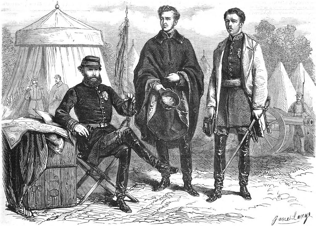 Dom Pedro II and his sons-in-law visit the seat of war - Camp D'Alegrete