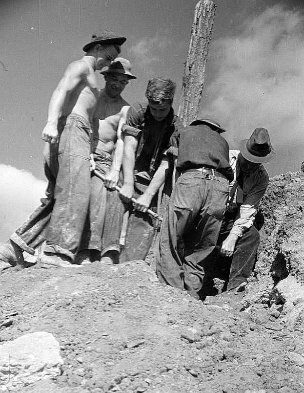 CCC (Civilian Conservation Corps) boys at work, Prince George's County, Maryland Photo: Carl Mydans
