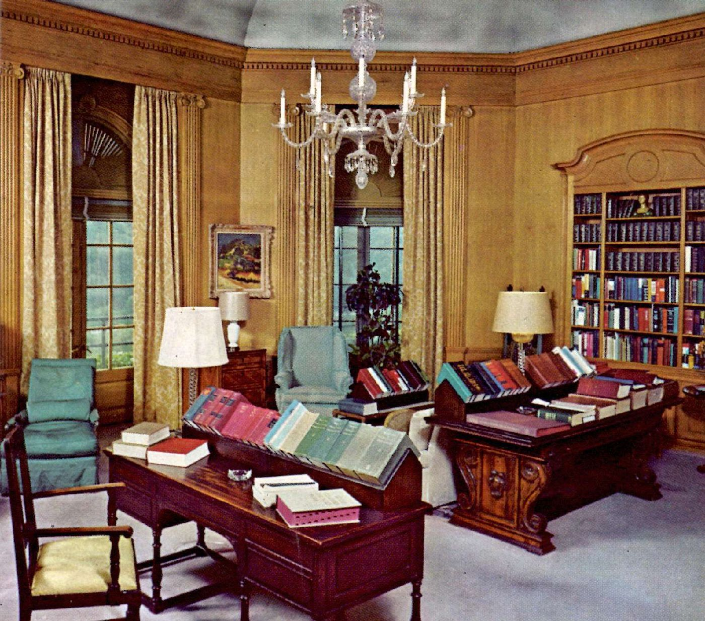 Editorial library at Reader's Digest headquarters, Chappaqua, 1977