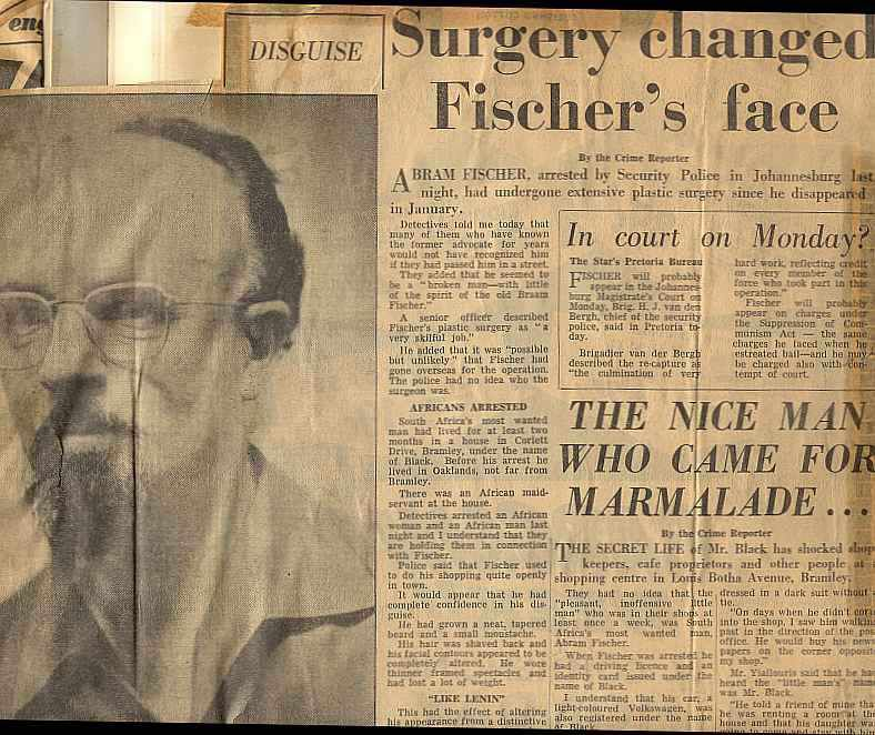 Surgery changed Abraham Fischer's face - Star, Johannesburg