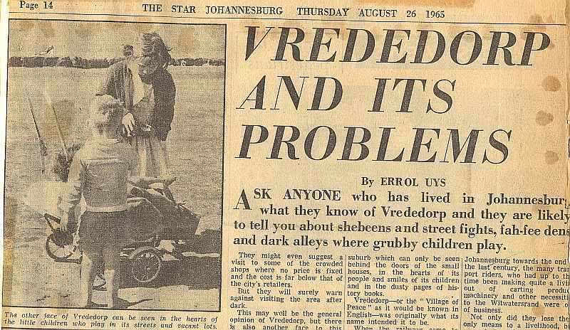 Vrededorp and its problems - Star, Johannesburg