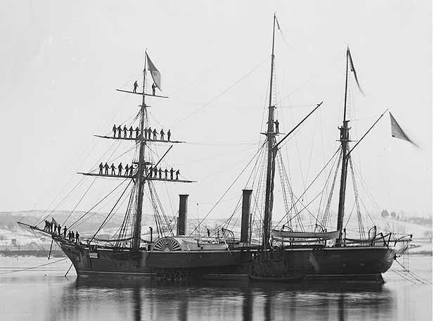 Tacuari, flagship of the Paraguayan Navy, 1864 was similar to this vessel