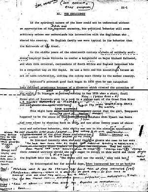 The Covenant - James Michener original manuscript edited by Errol Lincoln Uys