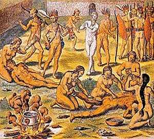 Cannibals, 16th Century, Brazil, dismemberment [12]